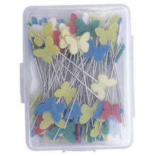 RODE 100 шт./компл. иголки для пэчворка куртка на пуговицах с цветочным принтом заколки собственноручных инструмент Аксессуары для шитья булавки для шитья и пэчворка с бабочками