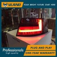 VLAND производитель для автомобиля задний фонарь для Audi A6 светодиодный фонарь 2005 2008 для Audi A6 задний фонарь с DRL + обратный + тормоз