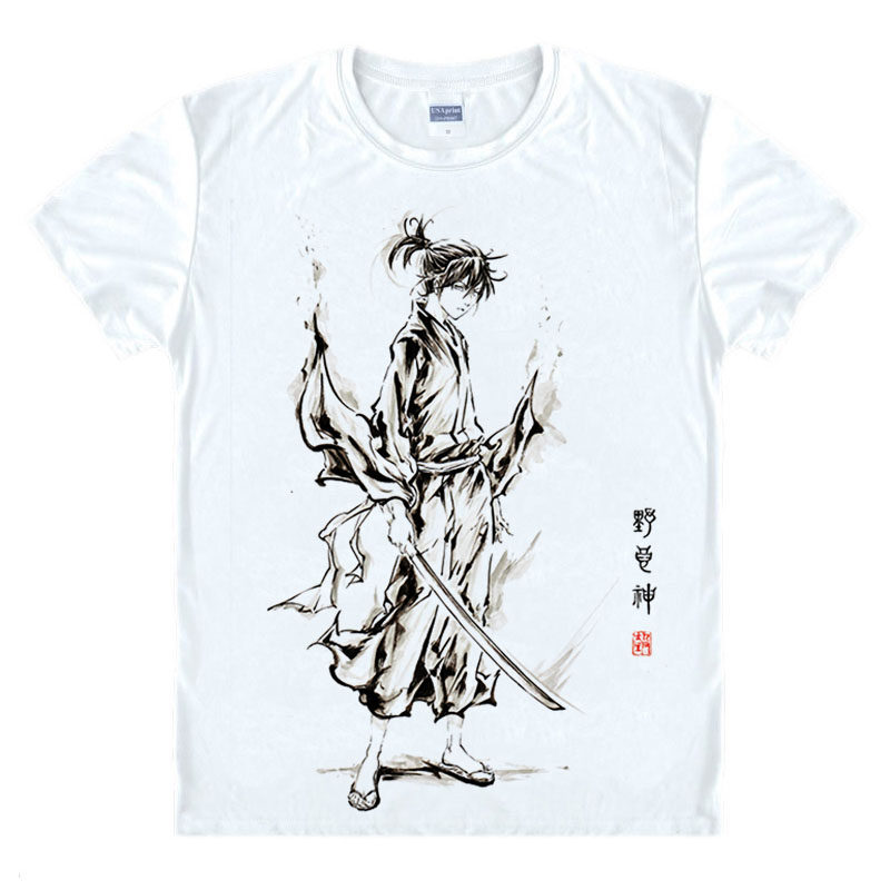 a7882c7f4 Hot Anime Noragami Yato T Shirt Cosplay Costume Halloween Party Polyester T- shirt Newest Design