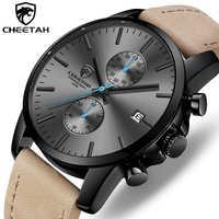 2019 CHEETAH New Men Watch CHEETAH Brand Fashion Sports Quartz Watches Mens Leather Waterproof Clock Business Relogio Masculino