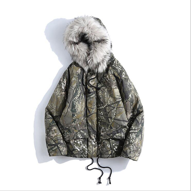 Best Offers 2019 New Fashion Winter Jacket Men Camouflage Parkas Men Military Coats Male Thicken Fur Hood Coats With  Plus Size 2XL 74