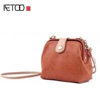 AETOO Mini Leather Handbags Cowhide Shoulder Bag 2017 New Fashion Korean Version Of Retro Wild Personality