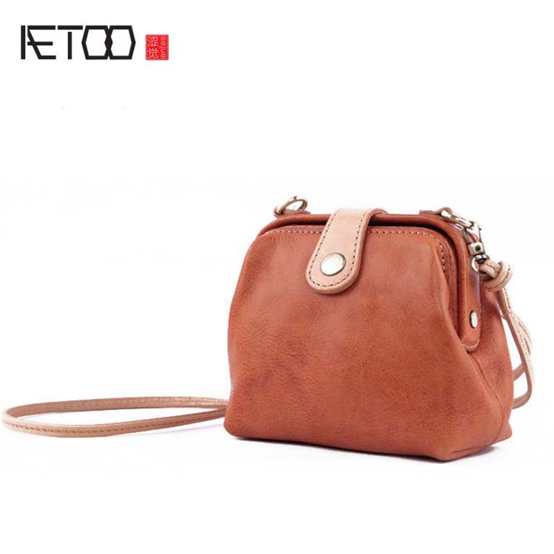 AETOO Mini leather handbags cowhide shoulder bag 2017 new fashion Korean version of retro wild personality Messenger bag