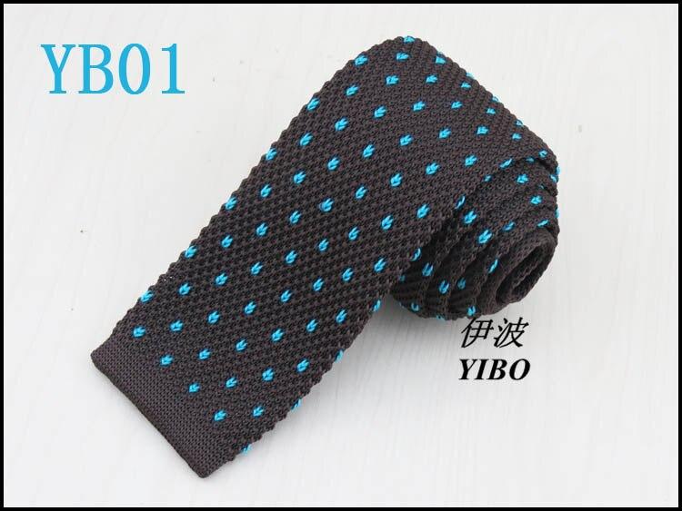 mens brown knit tie/Heart-shaped lake blue dot pattern/Retro Style fashion trendy big boy necktie free shipping