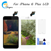 10PCS Lot Black White Color LCD Display Touch Screen Replacement For IPhone 6 Plus Display With