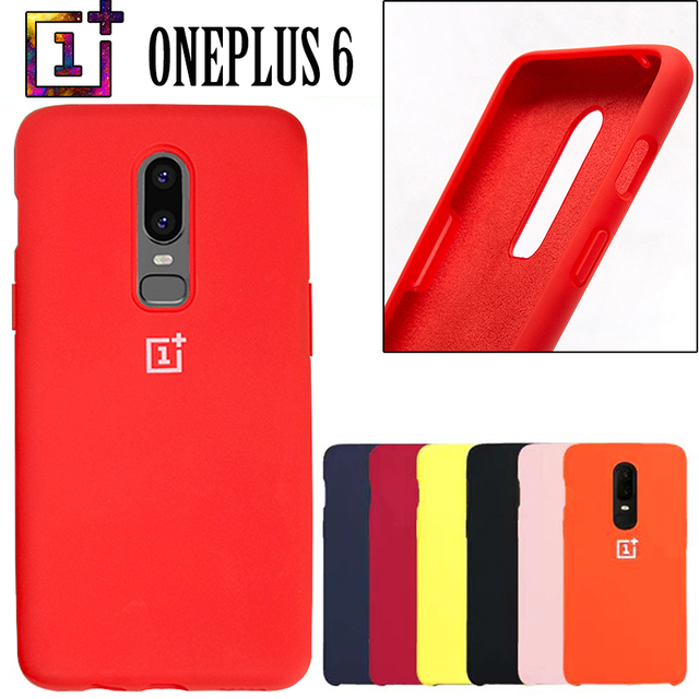 new style 8ab46 462e4 US $4.98 57% OFF|Aliexpress.com : Buy Oneplus 6 Back Case Cover One Plus 6t  Soft Liquid Silicon Phone Case with Logo Full Protective Funda 1+6 Phone ...