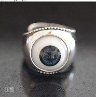 Хорошие глаза стерлингового серебра кольцо хипстеры в Европе и Америке мужское кольцо панк