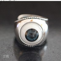 Good took the eyes sterling silver ring hipsters in Europe and America man ring punk