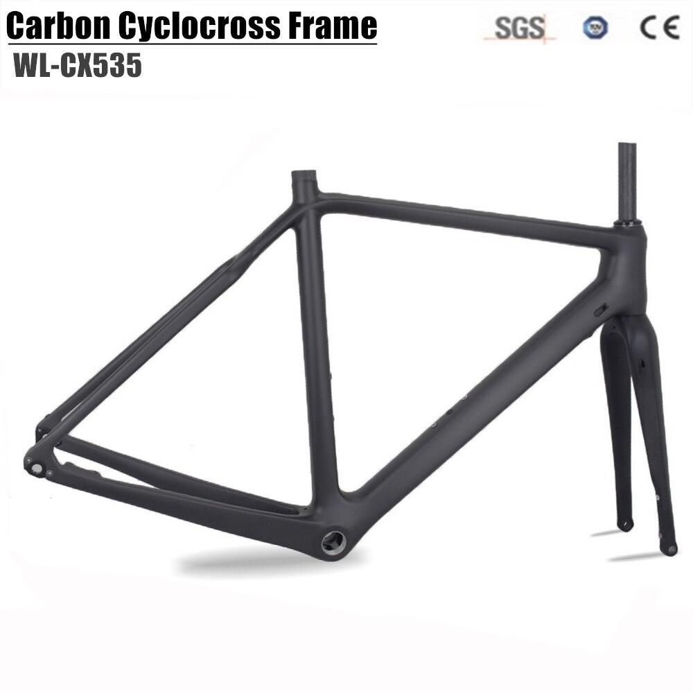 Carbon Cyclocross Bike Frame carbon CX Flat Mount disc Bicycle Frame Cyclocross Disc Frame With Thru Axle 142*12 Gravel bike