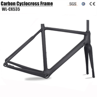 Carbon Cyclocross Bike Frame carbon CX Flat Mount disc Bicycle Frame Cyclocross Disc Frame With Thru Axle 142*12 Gravel bike