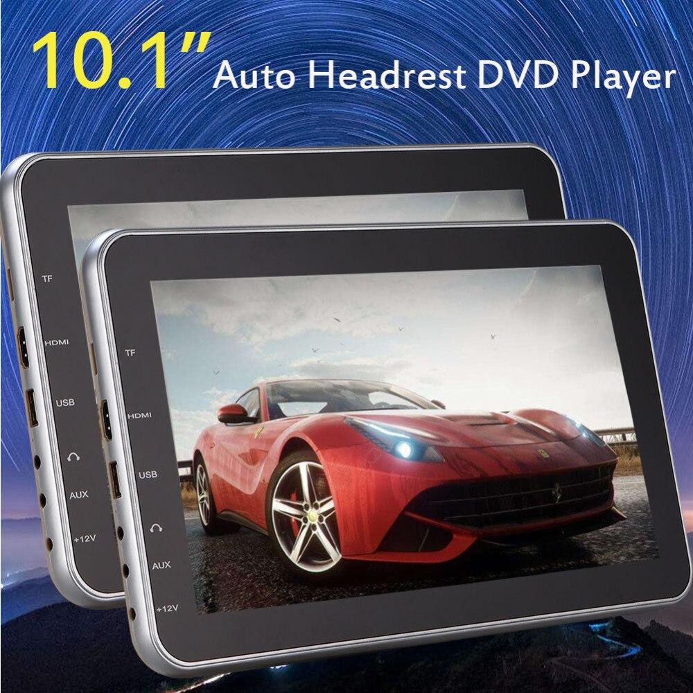 Eincar 10.1&#8243; DVD CD multimedia Player Car Headrest Digital Screen <font><b>Phone</b></font> Charger USB/SD <font><b>HDMI</b></font> Port 2 Pieces Unit Built-in Speaker