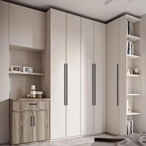 Image 3 - AOBT 5 Pezzi/lottp Nero Cabinet Maniglie Lungo 800/1000/1200 millimetri Porta Dellarmadio Tira Maniglie Porta In Alluminio Maniglia ferramenta per mobili