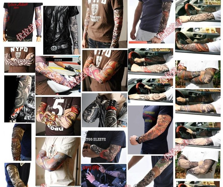 New hot driving sunscreen arm tatoo sleeve man & woman cool cycling temporary flash tattoo Stretchy scorpion fake tattoo sleeves 4