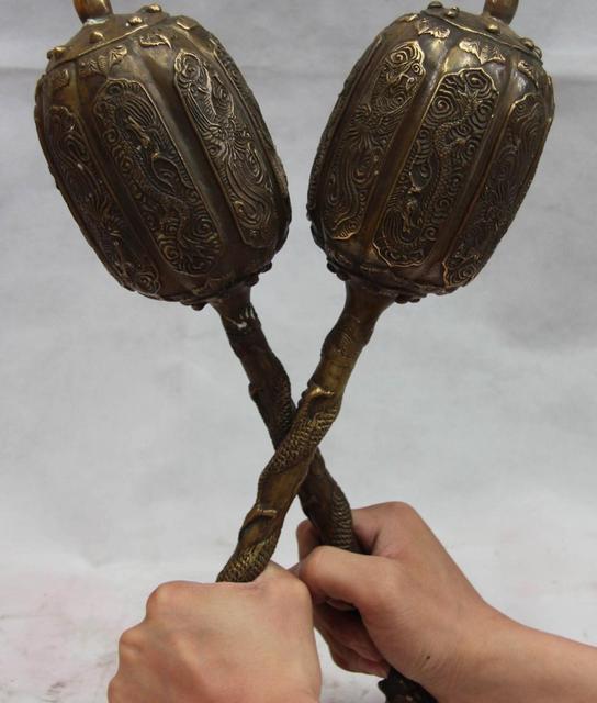 Armes de guerre en Bronze populaire | Paire de marteau, Dragon Chui, général, chine