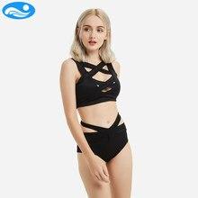 736a56b10b31 2018 YuanLai Maiô Terno de Natação Para As Mulheres Maiô Biquíni Fêmea  Swimwear Banho Swim Suit Swimwear Biquíni De Cintura Alta