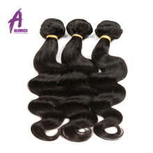Alimice Hair Brazilian Body Wave 1 Piece Natural Color 10 28 inch 100 Human Hair Bundles
