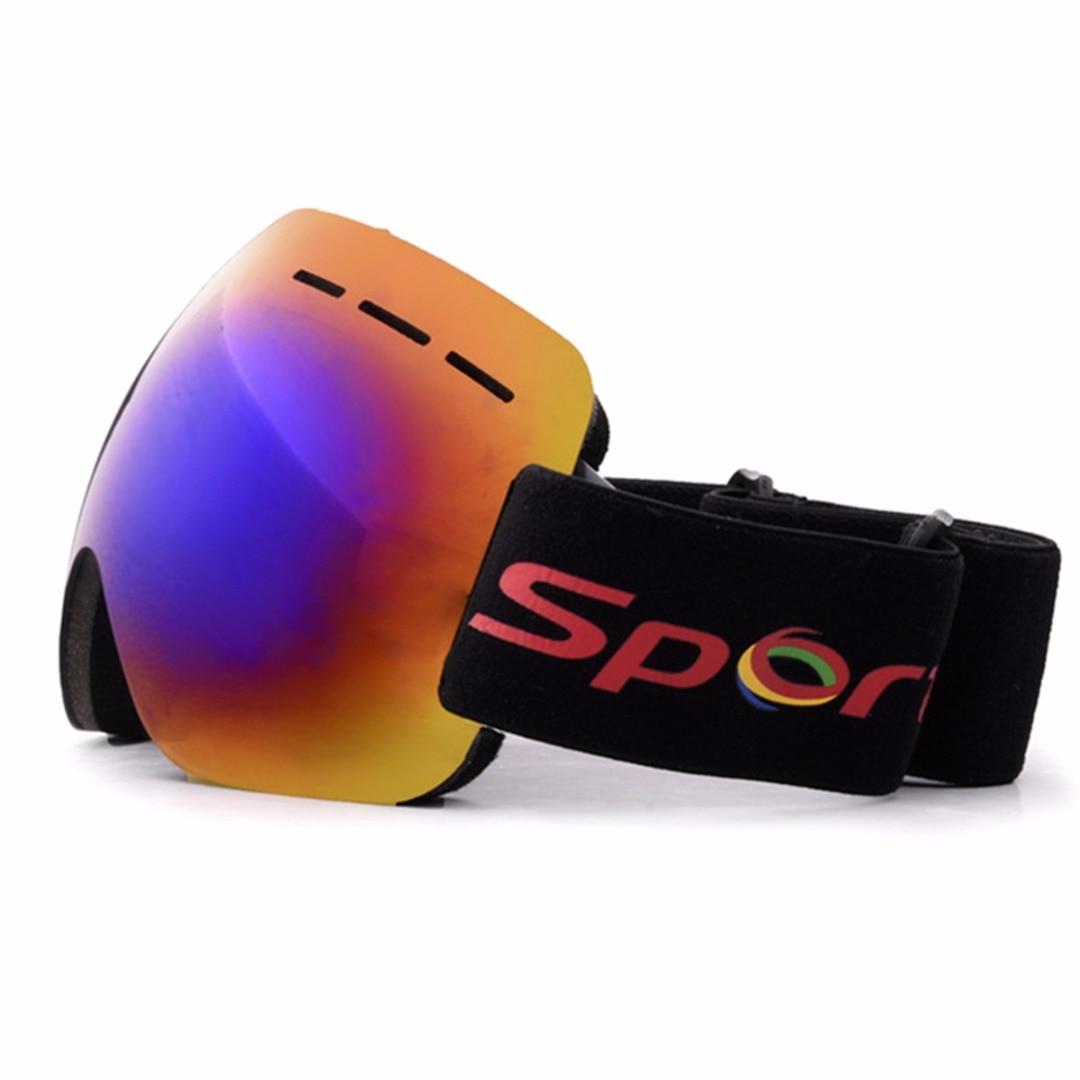 Adult Ski Glasses Anti-fog  Double Lens UV Skiing Goggles Snow Skiing Snowboard Winter Sport Sunglasses Motocross Eyewear