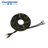 High Quality Clearance Sale Gold Plated Braid 2 RCA To 2RCA AV Video Cable Male To