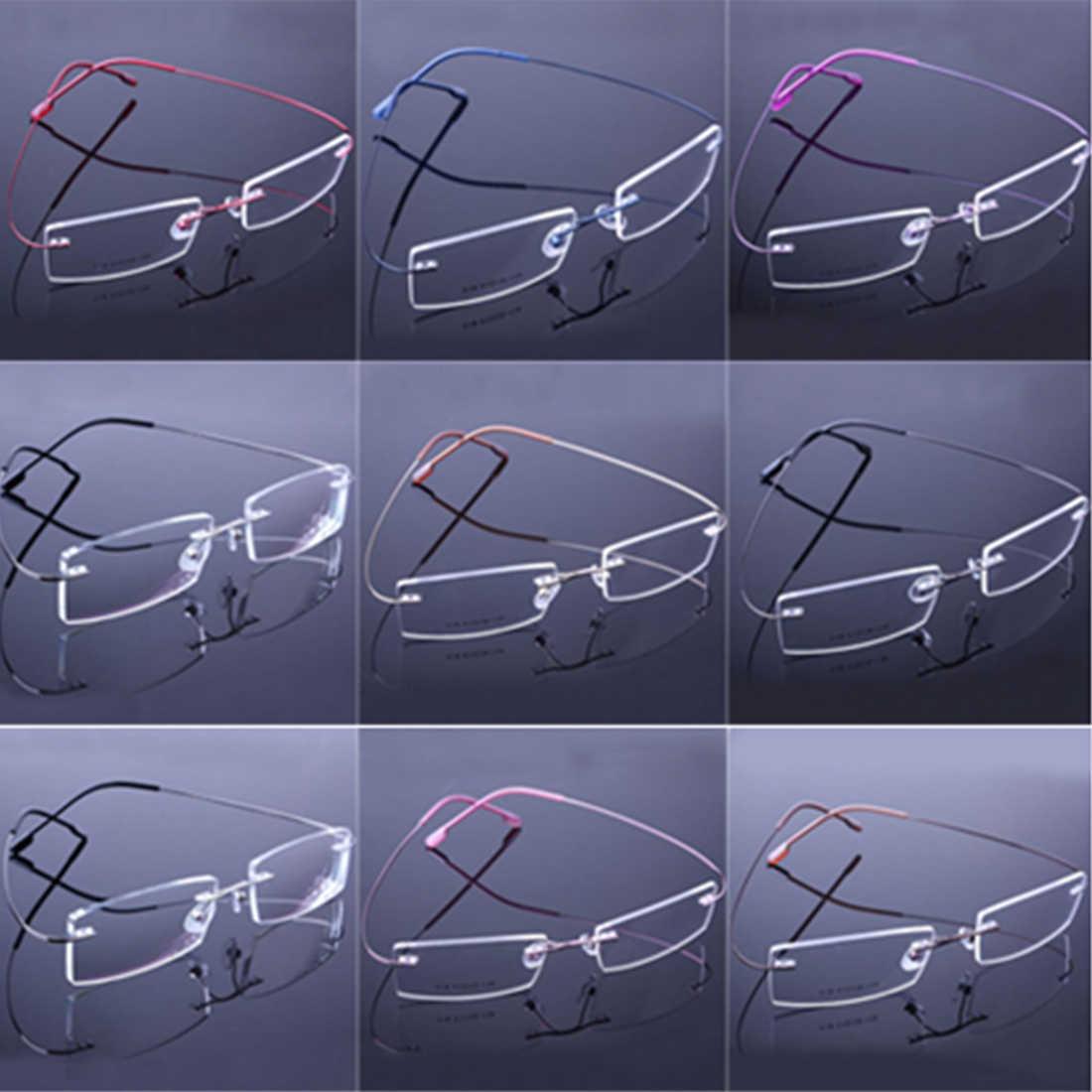 049cda1a30 ... New Retail 9 Colors Lightweight Rimless Glasses Frames Memory Titanium  Eyeglasses Spectacle Prescription Optical Frames ...