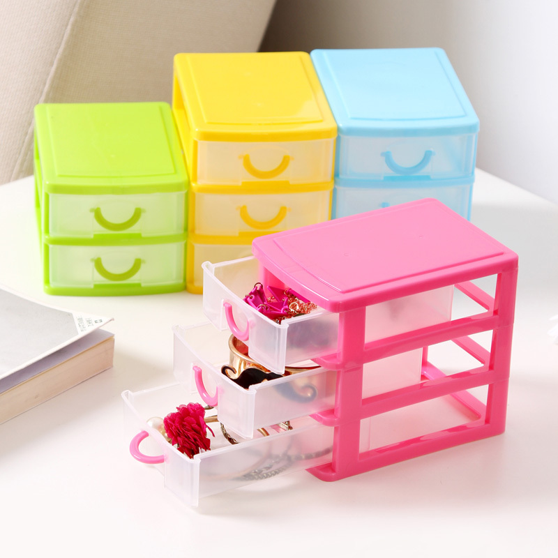 1pcs Colorful Mini Drawer Finishing Cosmetic Storage Box