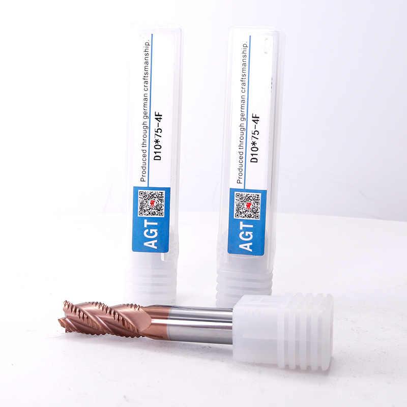 Augusttools CNC Carbure d'extrémité HRC55 4 Flûtes Fraise En Acier Tungstène Fraise en Bout 6mm 8mm 10mm 12mm Outils De Fraisage