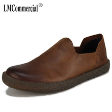 Spring 2018 new mens loafer shoes all-match cowhide driving men breathable sneaker fashion boots casual Leisure