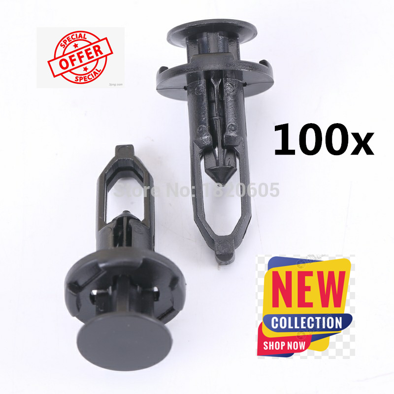 Lot of <font><b>100</b></font> Push-Type Fastener Rivet Retainer Clips for <font><b>Toyota</b></font> for Lexus Part# 52161-02020 , 52161-16010 image