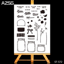 New Arrivel Vases and Flowers Clear Silicone Stamp/Seal for DIY Scrapbooking/photo Album Decorative Stamp Sheets