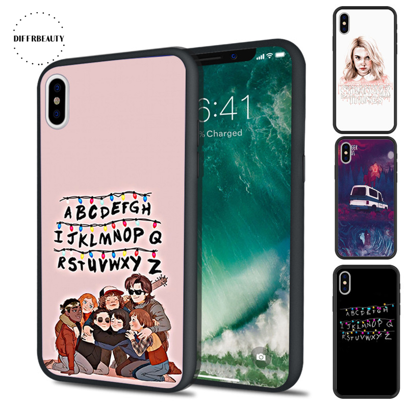 DIFFRBEAUTY Phone Cases For iPhone X 8 6S 7 6 Plus 5 lovely Stranger Things Pattern Christmas Lights Silicone Hard Cover Coque