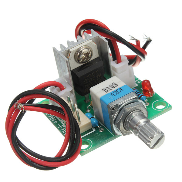 High Quality 5pcs/lot  LM317 Linear Full-stage Voltage Regulator Board Fan Speed Control /w Switch Durable Tool Tools