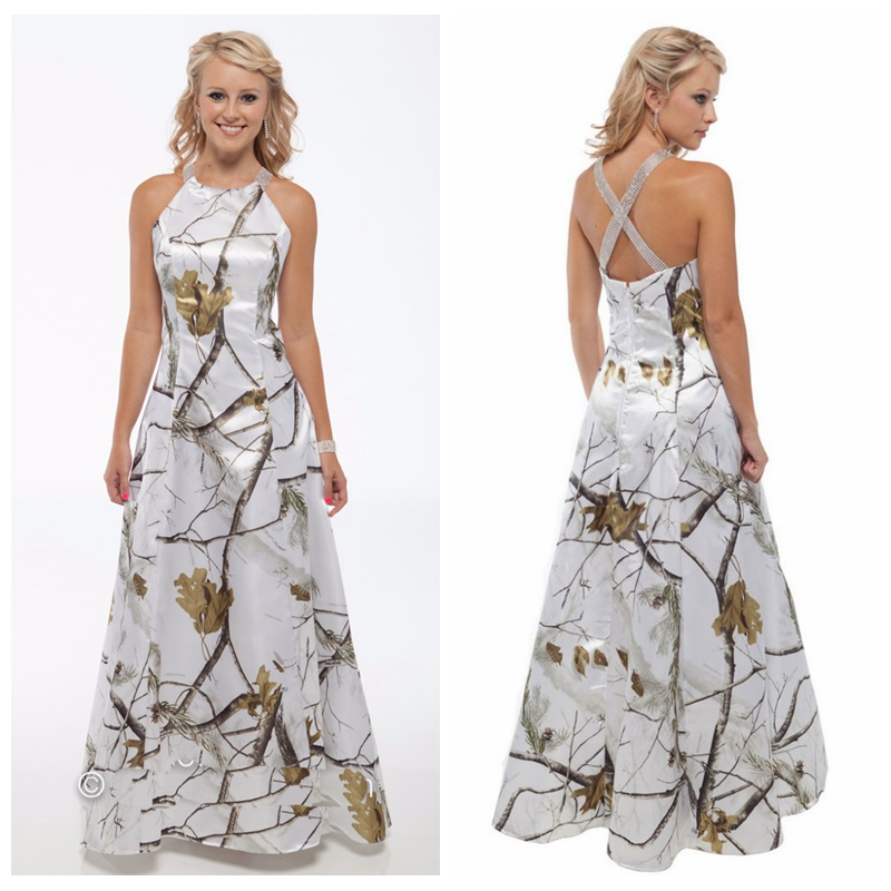 Frugal 2019 White Camo Real Tree Style Wedding Dress Criss Cross Back Bridal Gowns Custom Camouflage Outside Field Vestidos De Mariee Ideal Gift For All Occasions