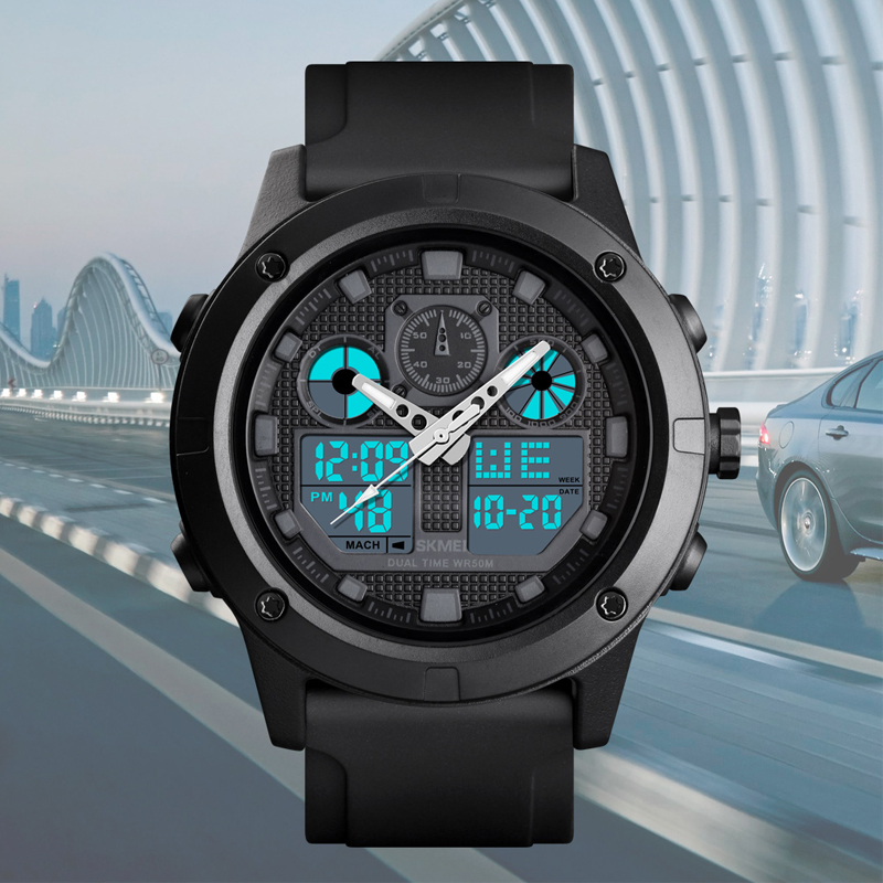Digital Sport Watch For Men Luxury Brand <font><b>SKMEI</b></font> Wrist watches Waterproof Chronograph Luminous Electronic Mens Bracelet Watch Men image