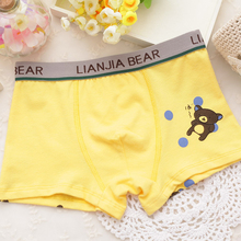 2PCS Pack Cotton Boys Underpants Character Cute Bear font b Short b font Panties font b