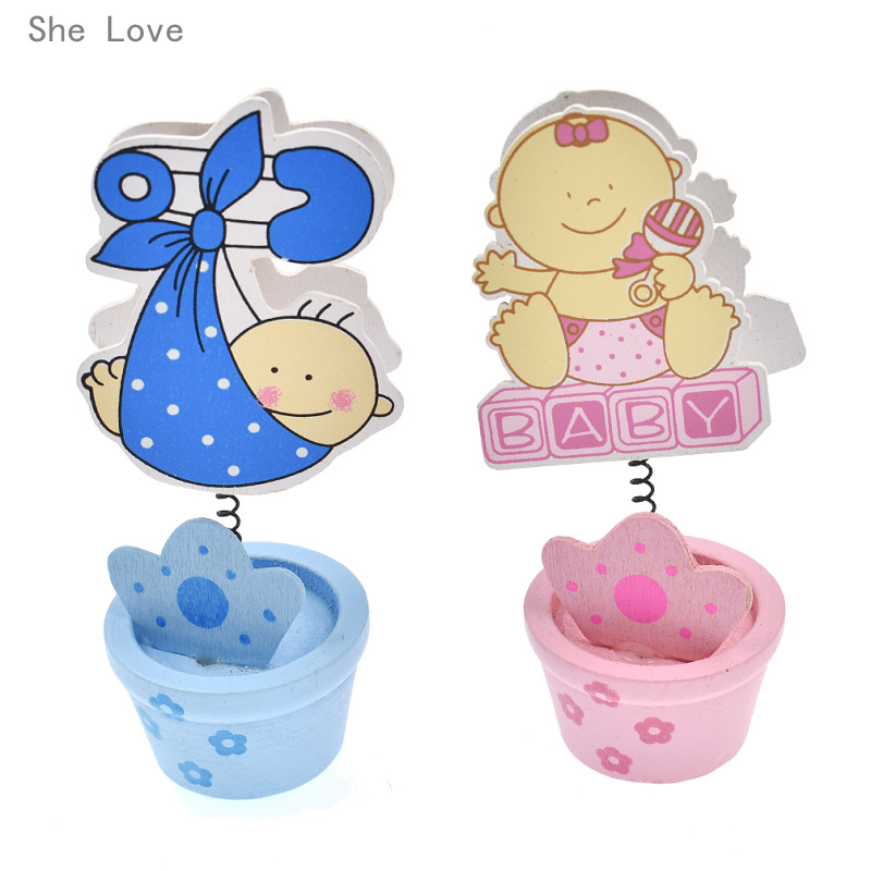 She Love 10 Pcs Baby Seat Clip Table Name Card Holder Birthday Party Decoration Random Pattern