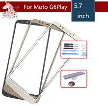 10pcs/lot For Motorola G6 Play XT1922 XT1922-3 XT1922-4 Touch Screen Front Outer Glass Panel Lens NO LCD Display Digitizer 5.7