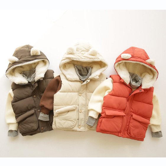 2 Stks Wlg Jongens Meisjes Winter Kleding Set Kids Dikke Hooded Vest En Fluwelen Hoodies Set Kindje Casual Kleding Kinderen 1-5 Jaar