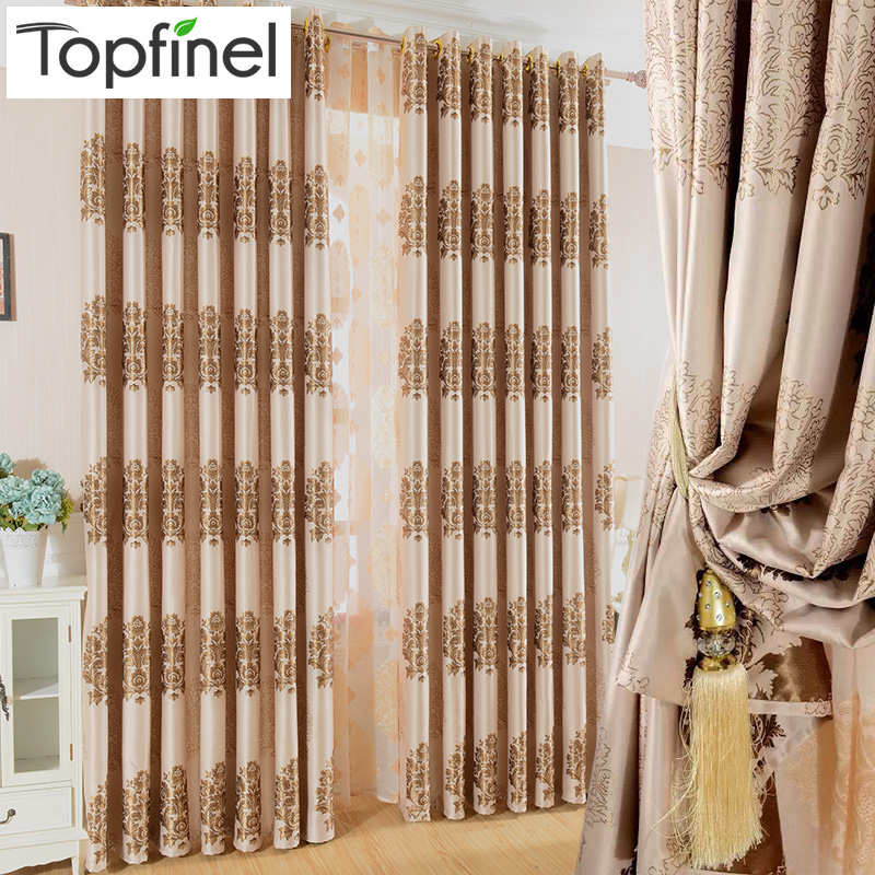 Buy top finel 2016 luxury modern jacquard for Modern drapes window treatment