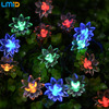 4 8M 20LEDs Lotus Flower Solar Lamp Garden Waterproof Decoration Fairy Holiday Christmas Solar Led Light
