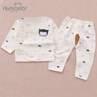 Newborn set 0-3 Monthes Long Sleeves Cartoon Cat Baby Girl Clothing Suits toddler baby boy clothing Underwear Infant Clothes set