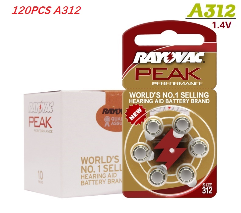 Батарея кнопки 120 шт. 20 карта A312 батареи слуховой аппарат батареи A312 312A ZA312 <font><b>312</b></font> <font><b>PR41</b></font> U
