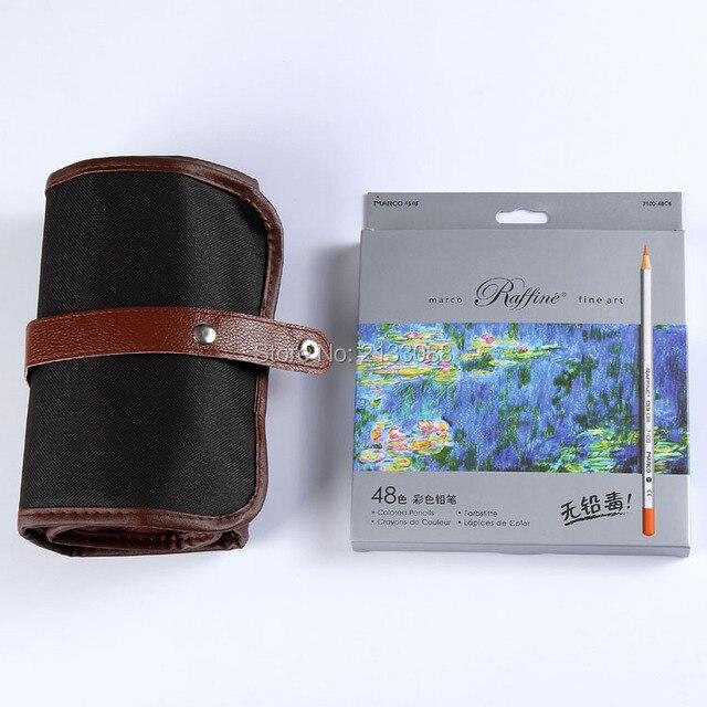 Marco Raffine Lapis De Cor 48 Colored Pencils Secret Garden Coloring Book With Pouch