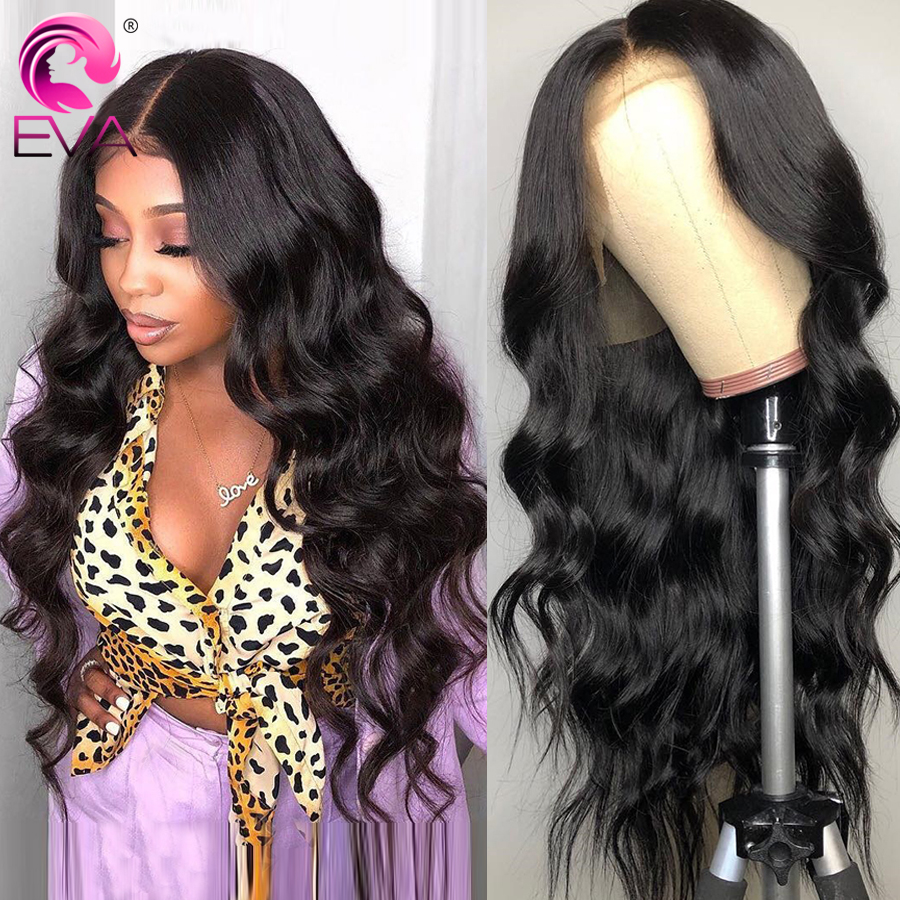 Eva 360 Lace Frontal Wig Pre Plucked With Baby Hair Body Wave Glueless Lace Front Human Hair Wigs For Black Women Brazilian Remy