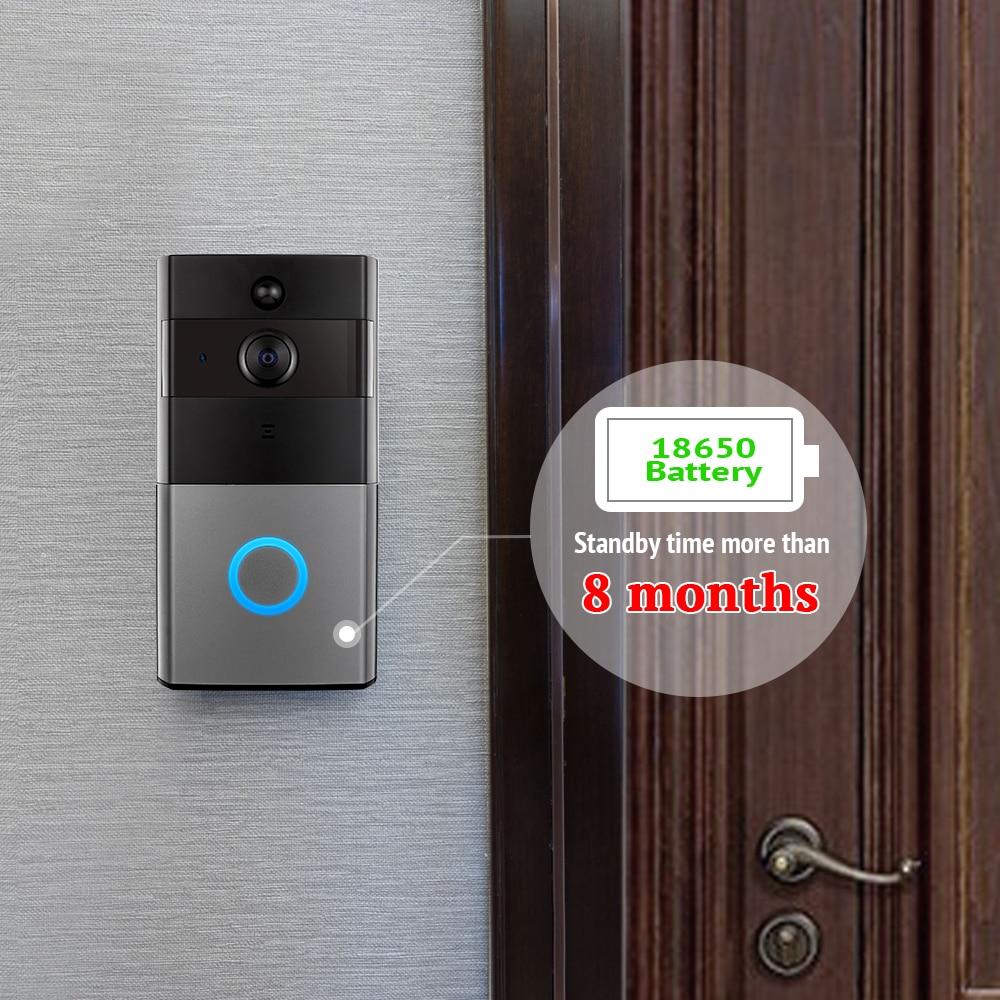 Купить с кэшбэком BONLOR Video Intercom Doorbell 720P HD Wifi Security Camera Real-Time Two-Way Talk and Night Version Smart Wireless Doorbell