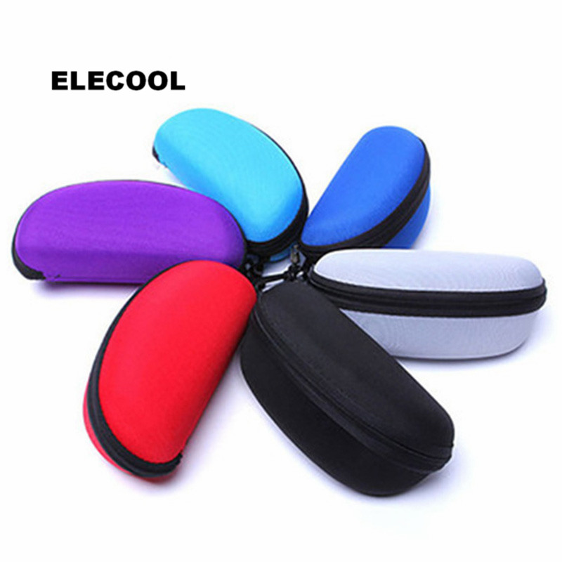 ELECOOL Zipper Eye Glasses Case Sunglass Protector Storage Organizer Holder Travel Spectacle Box with Belt Clip Cosmetic Tool(China)