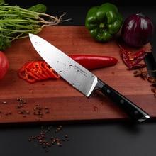 Японские поварские ножи Mokithand, 8 дюймов, высокоуглеродистые, Германия, 1,4116 сталь, кухонный нож, острый японский нож с ручкой Pakka