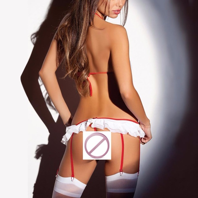 2017 New Sexy Lingerie Hot Nurse Cosplay Costume Temptation Babydoll backless Nightclub dancing Underwear lenceria sexy Dress