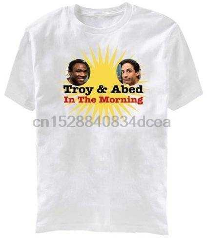 Comunità Troy E Abed In La Mattina Per Adulti Bianco T Shirt Freddo casual Orgoglio T Camicia Degli Uomini Unisex di Nuovo Modo di maglietta Allentata di Formato