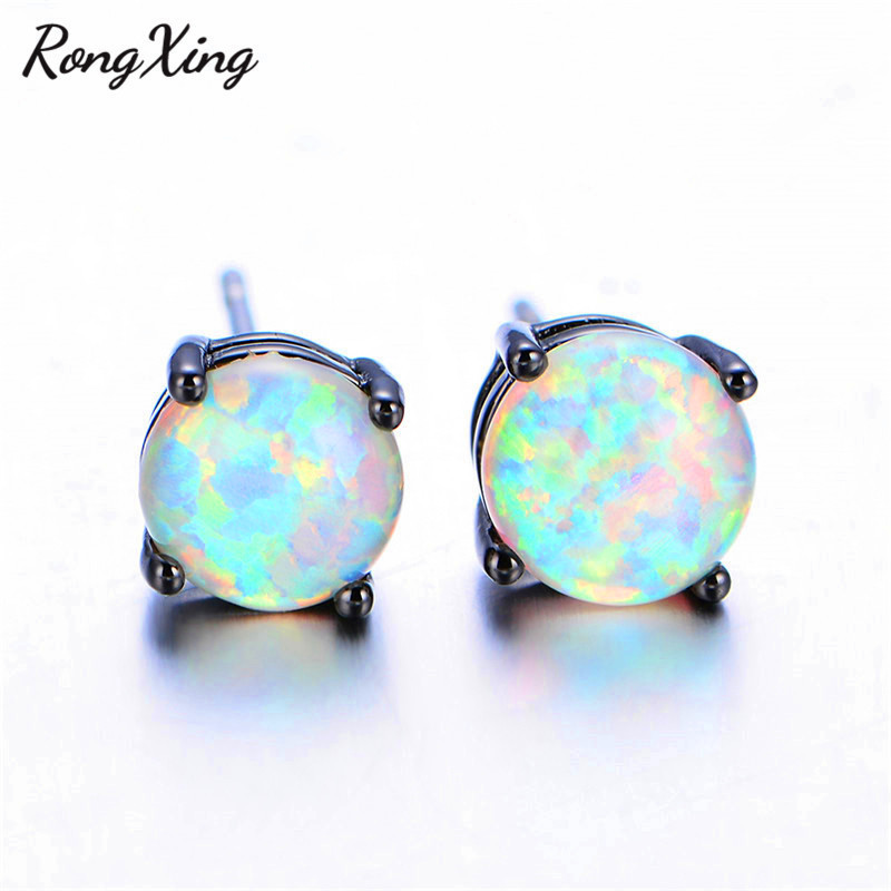 sterling beautiful blue fashion fire wedding party women for item stud silver opal earrings white