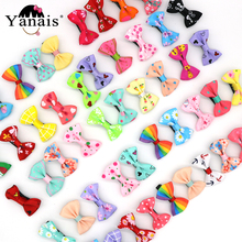 50pcs/lot Multi-color Pattern Hair Bows Clips  Hairpins For Girls Christmas Birthday Gifts Kids Children Accessories