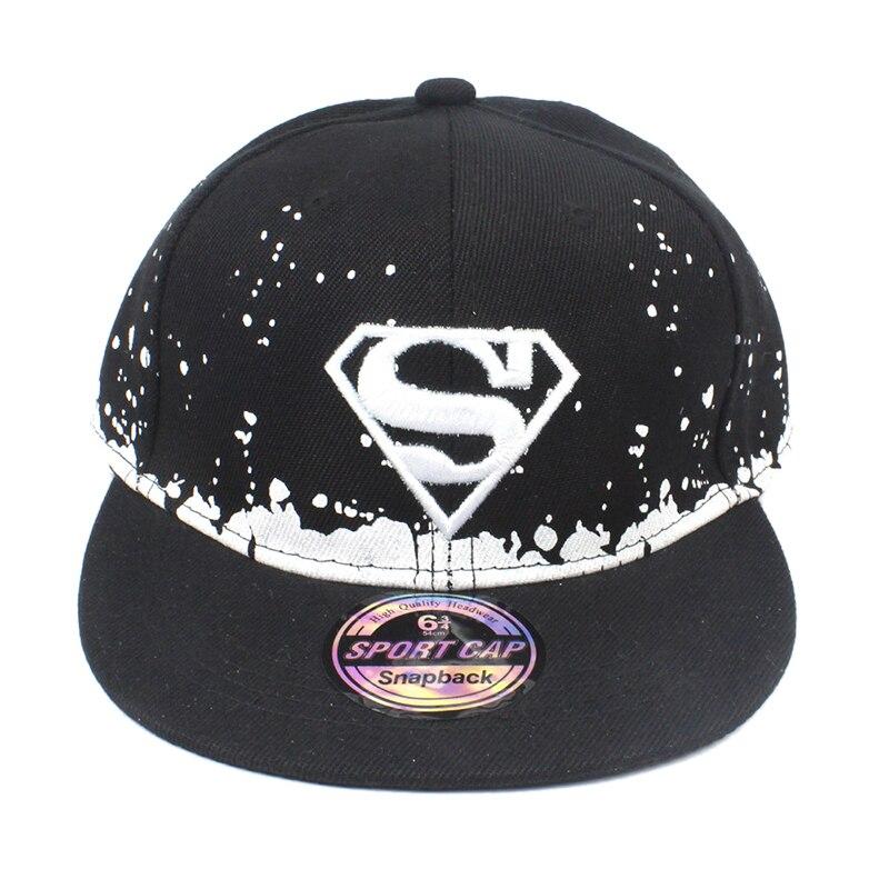 31364b8aa15 New Children s Superman Hip Hop Hat Letter S Embroidery Baseball Cap High  Quality Boy Girl Kids Man Women Bone Snapback Baby-in Baseball Caps from  Apparel ...